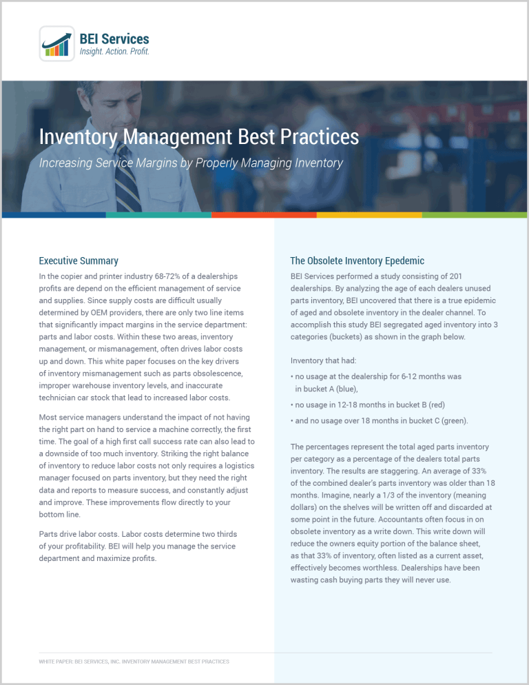 WHITEPAPER: Inventory Management Best Practices