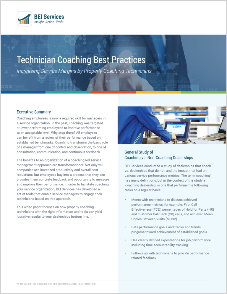 WHITEPAPER: Technician Coaching Best Practices